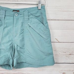 Royal Robbins Shorts - Royal Robbins muted blue cargo-like shorts
